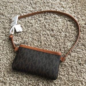 Michael Kors Fanny Pack Belt Bag Purse Brown Logo